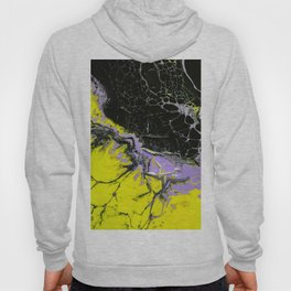 Epic Black and Yellow Texture Painting Hoody