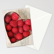 Raspberry Heart Stationery Cards
