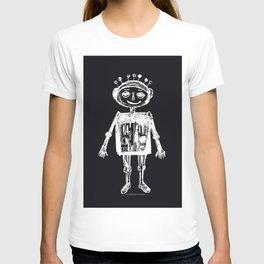 Little robot black-white illustration T-shirt