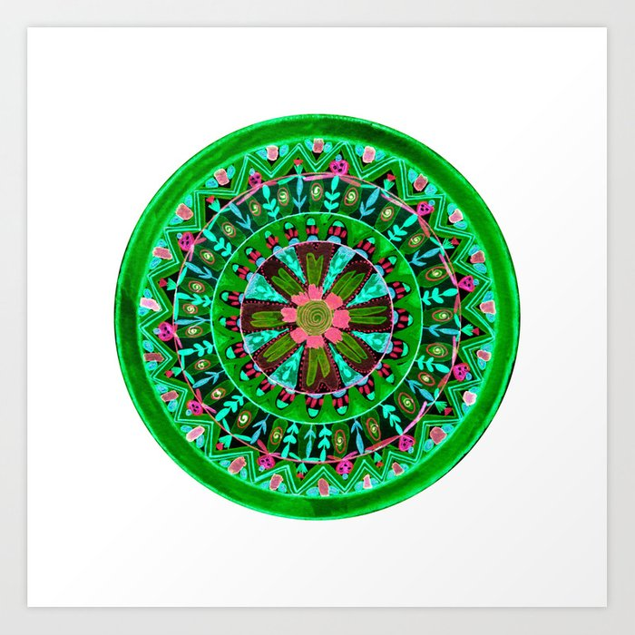 Into the Forest Mandala Art Print
