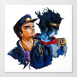 Jotaro and Star Platinum Canvas Print