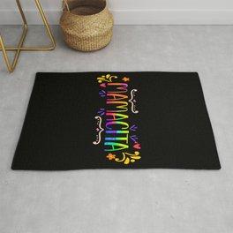 Cinco De Mayo Mamacita Rainbow Watercolor Tie Dye Rug
