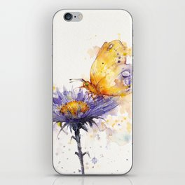 Flowers & Flutters iPhone Skin