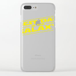 Best Dad In The Galaxy Sci Clear iPhone Case