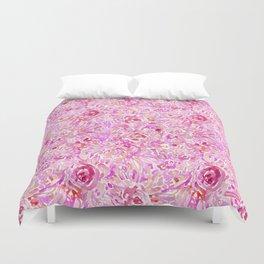 BRAINWASH Pink Floral Duvet Cover