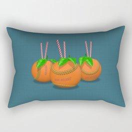 Sun Delight - blue Rectangular Pillow