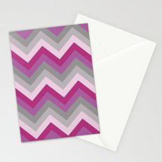 Radiant Orchid Chevron Stationery Cards