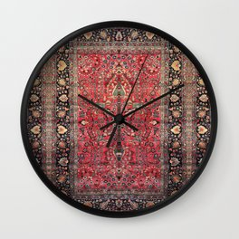Antique Persian Red Rug Wall Clock