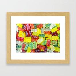 Fresh Gummy Bears Framed Art Print