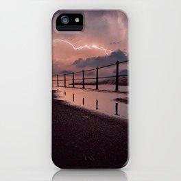 Lightening strikes iPhone Case