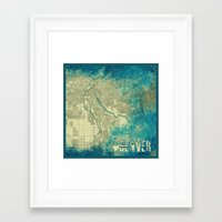 denver Framed Art Prints featuring Denver by Artsy B