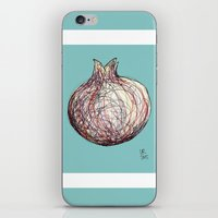 pomegranate iPhone & iPod Skins featuring Pomegranate by Ursula Rodgers