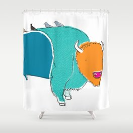 Bristol Bison Shower Curtain