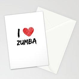 I Love Zumba Stationery Cards