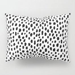 Dalmatian Spots (black/white) Pillow Sham