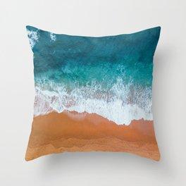 Rihanna Beach Throw Pillow