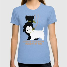 Retro London and Glasgow by train, dogs terriers T-shirt