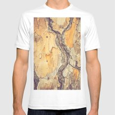 BARK - TREE - WOOD - TEXTURE White Mens Fitted Tee MEDIUM