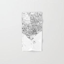 Singapore White Map Hand & Bath Towel