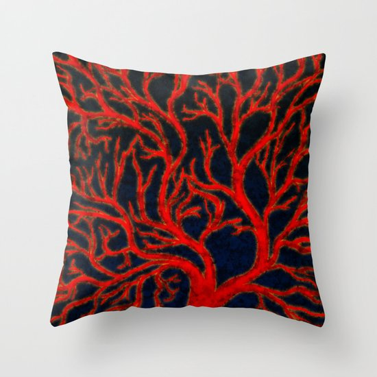 Spackled Veins Throw Pillow