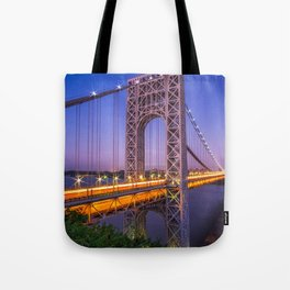 World Famous Historic George Washington Bridge Hudson River New York City Ultra HD Tote Bag
