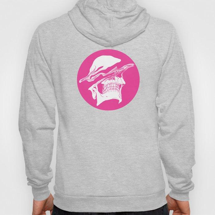 Liquify skull in hot pink Hoody