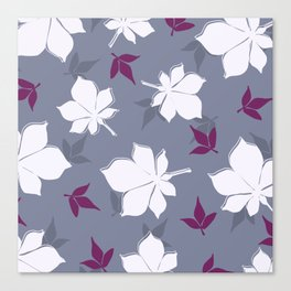 Serene Leaves Pattern Canvas Print