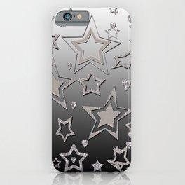 Gray gradient , star gradient iPhone Case