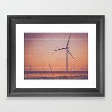 Southwest Windmills Route 66 Framed Art Print