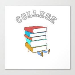 College Textbooks and Student Loans Canvas Print