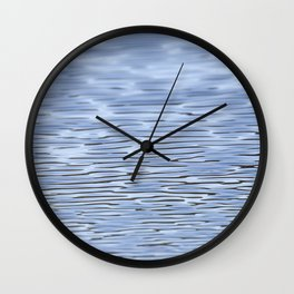 Small Blue Water Ripples Wall Clock