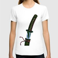 sword T-shirts featuring Japanese Sword by FACTORIE