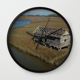 Bald Head Creek Boathouse | Bald Head Island, NC Wall Clock