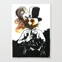 lovecraft Canvas Prints featuring Lovecraft 2 by Erwann Surcouf