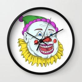 Vintage Circus Clown Smiling Drawing Wall Clock