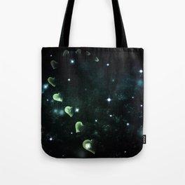 Cosmos Hart of Harts Half Green & White Tote Bag