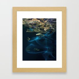 H2O # 49 - Water abstract series Framed Art Print