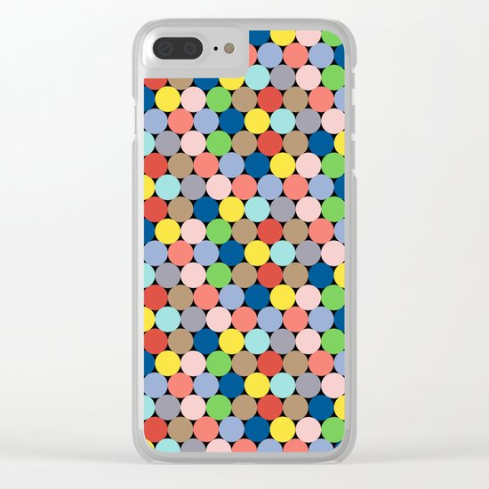 Colorful Geometric Pattern II Clear iPhone Case