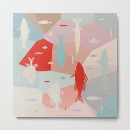 California Pastel Fish Metal Print