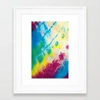 tie dye Framed Art Prints featuring Tie Dye by Kait & Court