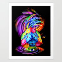 Creations in the color spectrum of the rainbow 3 Art Print