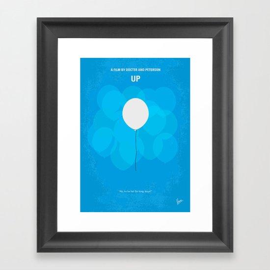 No134 My UP minimal movie poster Framed Art Print