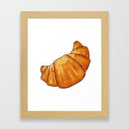 watercolor croissant Framed Art Print