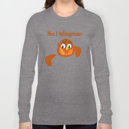 No.1 Wingman | Broken Wing Long Sleeve T-shirt