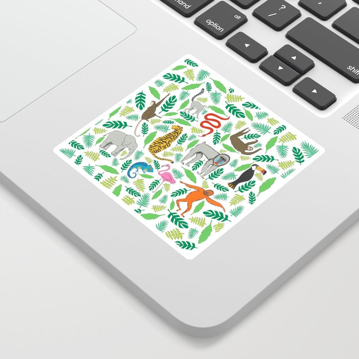Animals in the Jungle Sticker