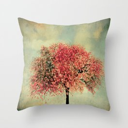 In our hearts there's always spring Throw Pillow