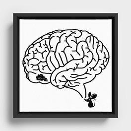 Brain Labyrinth Framed Canvas