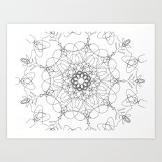 mandala - muse 6 Art Print