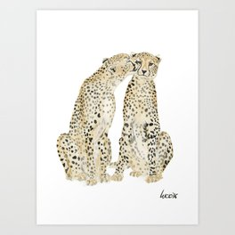 cheetah lovers Art Print