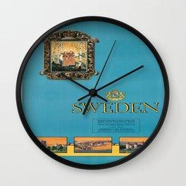 Vintage poster - Sweden Wall Clock